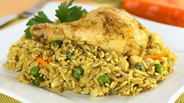 أرز بالدجاج والخضار