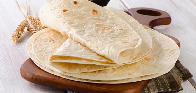 طريقة خبز التورتيلا