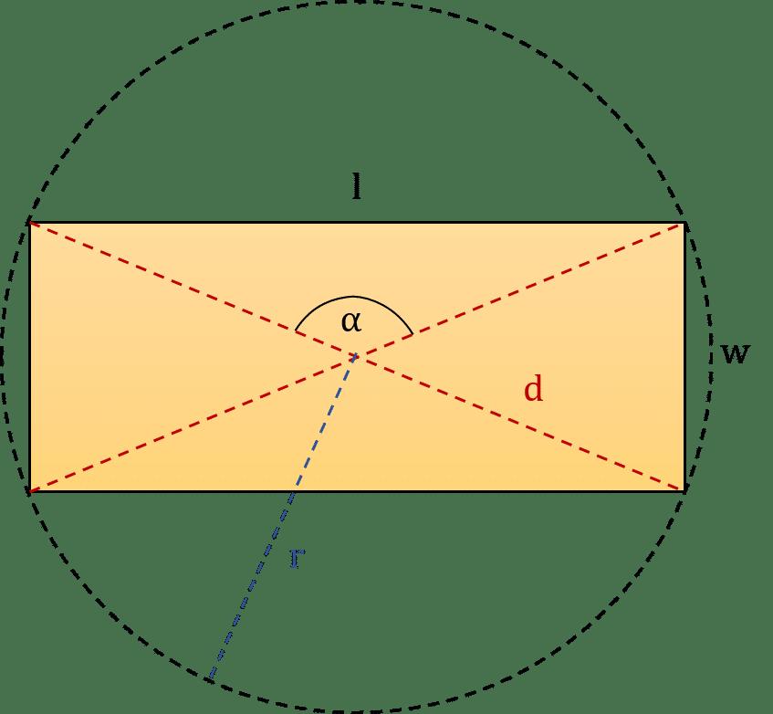 كيفية حساب طول قطر المستطيل